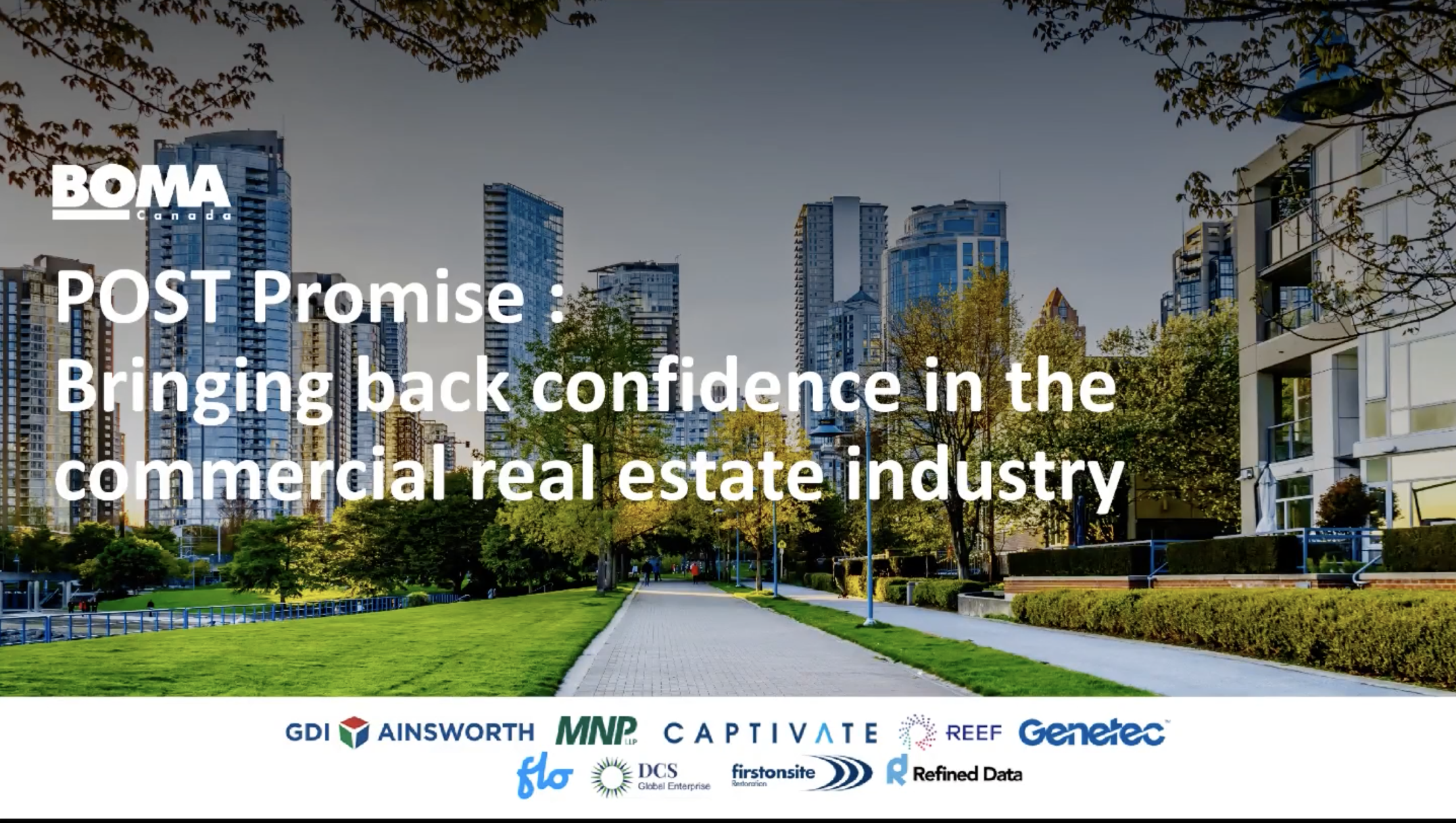 BOMA Webinar: Bringing Confidence Back to Commercial Real Estate
